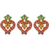Chandrakala Wooden Rangoli (17 Cm X 12 Cm X 1 Cm, Pack Of 3)
