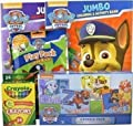 Bundle - 5 Items: Nickelodeon Paw Patrol 4-puzzle Pack, 2 Paw Patrol Coloring and Activity Books, Paw Patrol Grab & Go Play Pack, Pack of 24 Crayola Crayons from Cardinal