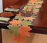 Fall Leaf Leaves Table Runner Felt Decor Decorative Autumn Harvest Thanksgiving Dinner Table Brand New