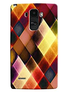 Blue Throat Colored Burfi Effect Printed Designer Back Cover/ Case For LG G4 Stylus