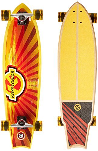 Kryptonics 34 Swallowtail Longboard Complete Skateboard - Cali Dream Graphic by Kryptonics