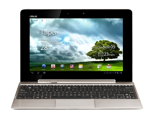 Asus EeePad Transformer Prime TF201 10.1 inch Tablet with Keyboard/Dock - Champagne Gold (Nvidia Tegra 3 Quad Core 1.3GHz, RAM 1GB, Storage 32GB eMMC, WLAN, BT, Webcam, Android 4.0)