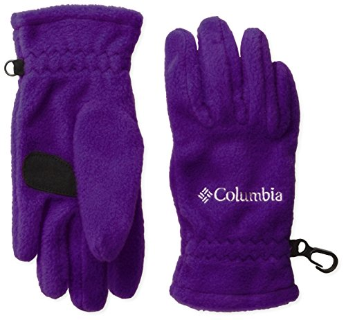 Columbia Big Girls' Youth Fast Trek Glove ,Hyper Purple, Medium