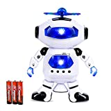 Classic Glow Electronic Walking Dancing Robot Toys With Music Lightening For Kids Boys Girls Toddlers, Battery Operated Included