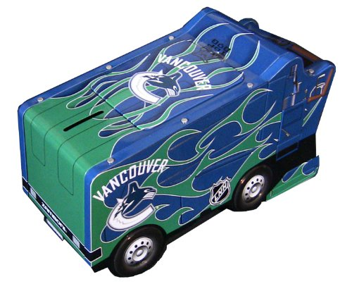 NHL Vancouver Canucks Zamboni Bank & Candy Holder (includes 150g of Kerr'sTM Double Fruit Sours)