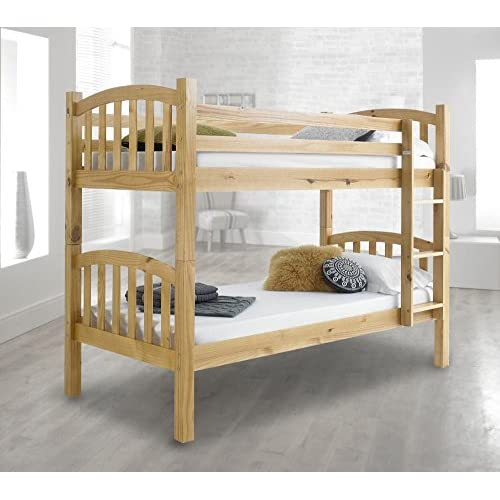 Happy Beds American Solid Pine Wooden Bunk Bed Frame Bedroom Home Sleep