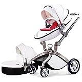 Hot Mom Kombikinderwagen und Buggy Sportwagen 3-in-1 Travelsystem 2016 Fashion mit Kinderwagenaufsatz,weiß