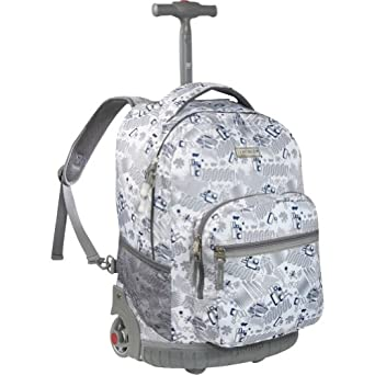 J World New York Sunrise Rolling Backpack (Blinker White)