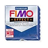 STAEDTLER FIMO Effect Glitter Blue (302) FIMO Effect Polymer Modelling Moulding Clay Block Oven Bake Colour 56g (Pack Of 1)