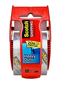 Scotch Packaging Tape with Dispenser, 1.88-Inches x 1000-Inches, Clear (142L)