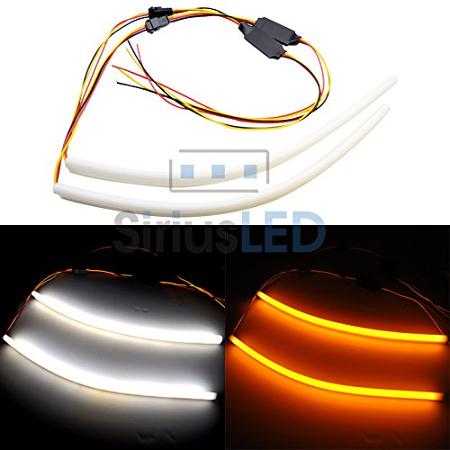 30Cm 2014 New Dual Color Drl And Turn Signal Led Switchback Soft Switchback Soft Tube Strips Drl Turn Signal