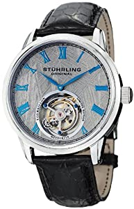Stuhrling Original Men's 536.3315X2 Tourbillon Limited Edition Meteorite Mechanical Stainless Steel Watch