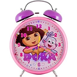 Dora Jumbo Twin Bell Clock
