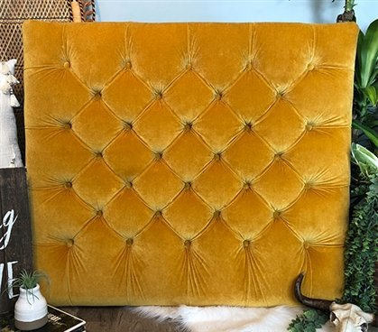 Velvet Gold Diamond Tufted Twin/Twin XL Headboard