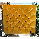 Velvet Gold Diamond Tufted Twin/Twin XL Headboard