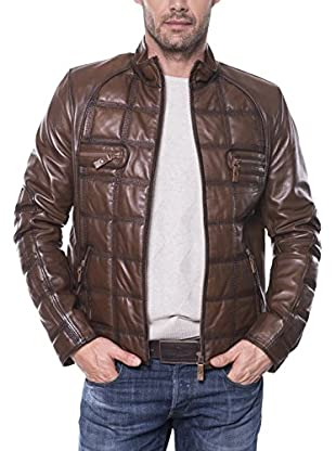GIORGIO DI MARE Cazadora Piel Men'S Leather Jacket (Marrón)