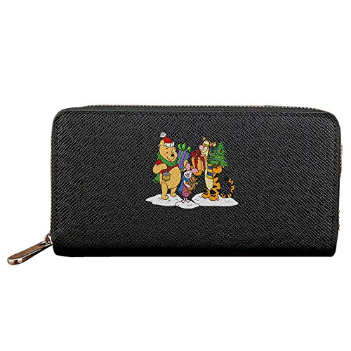 [Christmas Winnie The Pooh Long Fancy Coin Purse Cards Case With Zipper Closure] (Wall E Costume Disney)