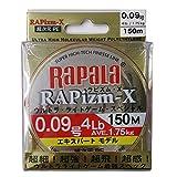 Rapala(ラパラ) ライン ラピズム・X 150m/0.09号/4lb/ファンタスティックオレンジ RPZX150M009FO