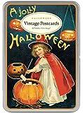 Cavallini & Co. Halloween Glitter Greetings Vintage Postcard Set
