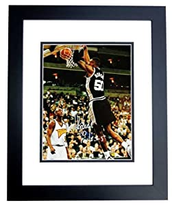 David Robinson Autographed Hand Signed San Antonio Spurs 11x14 Photo - BLACK CUSTOM... by Real+Deal+Memorabilia
