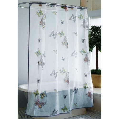 Amazon.com - Organdy Butterfly Fabric Shower Curtain -
