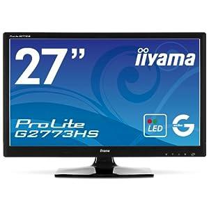 iiyama 27インチワイド液晶ディスプレイ LEDバックライト搭載 120Hz駆動パネル HDMIケーブル同梱モデル マーベルブラック PLG2773HS-GB1 E