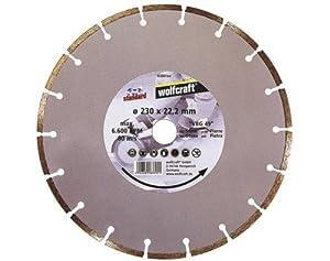 Wolfcraft 8389000 Disque diamant segmenté standard Diamètre 230 mm