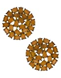 Anuradha Art Fawn Colored Stones American Diamonds Stud Earrings For Women/Girls