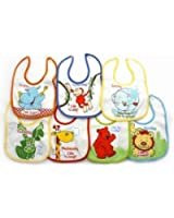 Newborn Baby Boy Bibs, Animals 7 Days Of The Week Baby Bibs (Pack Of 7)