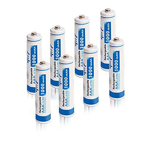 GODP 1200 Cycles Capacity 900 /1000mAh AAA 1500 / 1800 / 2300 / 2500 / 3000 mAh AA Nickel Metal Hydride Ni-MH Rechargeable Batteries (8, AAA 1000mAh) (Aaa 1000 Mah Rechargeable compare prices)