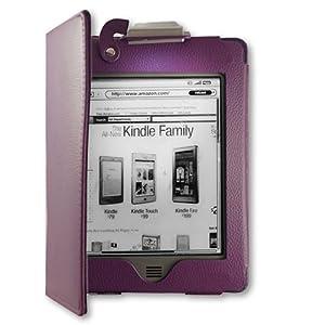 "EasyAcc Kindle Touch Hülle lederhülle mit Licht für Amazon Kindle Touch Wi-Fi, Kindle Touch 3G 6 ""E Ink Touch Screen Display Reader (Lila, PU-Leder, Led Light)"