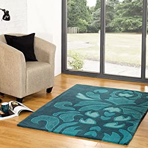 Flair Rugs The Peaks Ashbourne Rug, Teal, 80 x 150 Cm from Flair Rugs