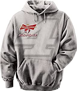 NASCAR Kevin Harvick # 4 Straight Away Hoodie - Grey by Checkered Flag