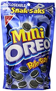 Oreo Mini Chocolate Sandwich Cookies, Original, 8 Ounce Bag (Pack of 12)