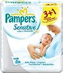 PAMPERS LINGETTES Sensitive, 4x63, 25...