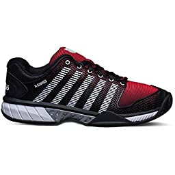 K-Swiss Hypercourt Express Mens Tennis Shoes (Black/Red) (11 D(M) US)