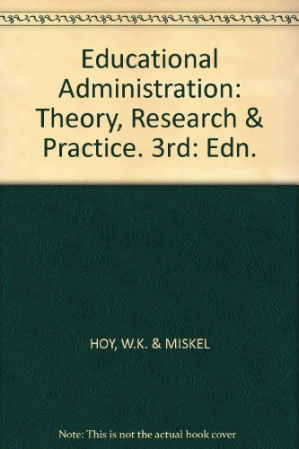 Educational Administration: Theory, Research & Practice. 3rd: Edn.