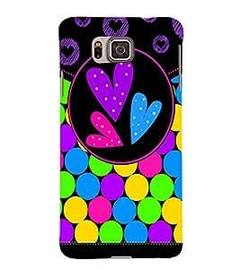 Color Bubbles 3D Hard Polycarbonate Designer Back Case Cover for Samsung Galaxy Alpha G850
