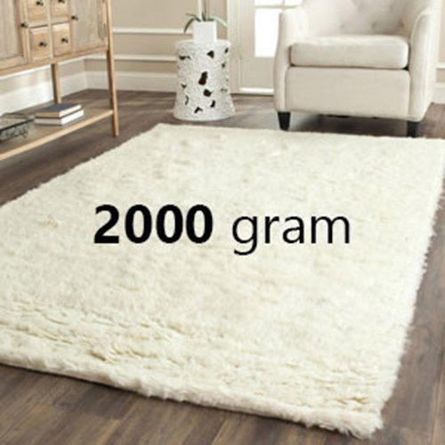 2000 Gram 100% Authentic Flokati Organic Sheepskin Drysdale Wool Rug from Greece (7x10)