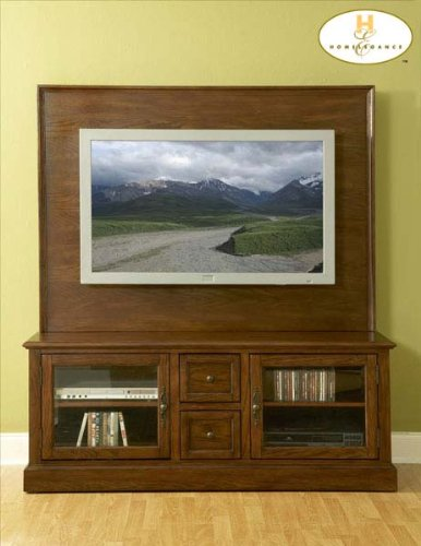 Cheap Grangeville TV Stand in Warm Oak Finish (B004RSYZ0C)