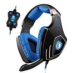 Sades A60 7.1 Surround Sound USB Professional Gaming Headset Headphone With Mic for PC Laptop
