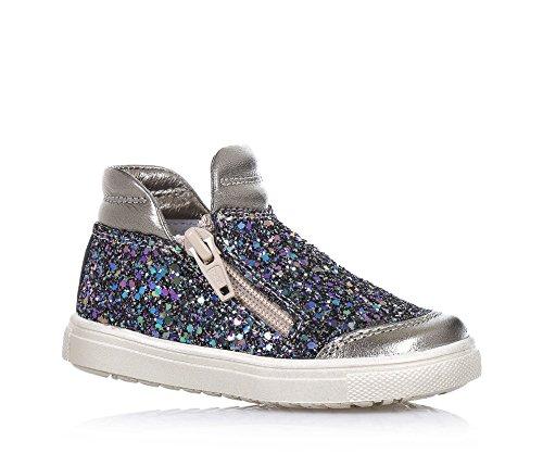 CIAO BIMBI - Sneaker in pelle e glitter, curata in ogni dettaglio ed in grado di coniugare stile, qualità e sicurezza, con chiusura a zip laterale, Bambina, Ragazza-25