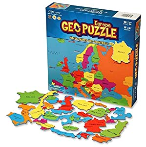 GeoPuzzle Europe - Educational Geography Jigsaw Puzzle (58 pcs) - by Geotoys