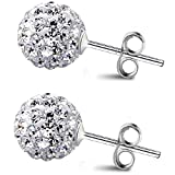 ANDI ROSE Women Fashion Jewelry 925 Sterling Silver Rhinestones Diamond Stud Earrings