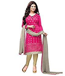 Fashionup Women's Cotton Ethnic Dress Material ( Pink )