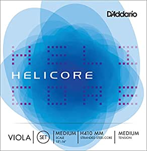 D'Addario ダダリオ ヴィオラ弦 H410 MM Helicore Viola Strings / Set (4-strings) MediumScale 【国内正規品】