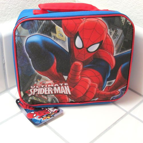 Marvel Ultimate Spiderman Spider-man Soft Sided Lunch Kit Box Lunch Bag - 1