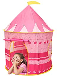 Kiddey™ Princess Castle Kids Play Tent – Indoor / Outdoor Pink Children Playhouse Great Gift…