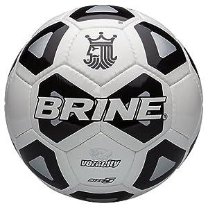 Brine Voracity Soccer Ball, Black, Size 5