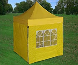 839X839 Pop up 4 Wall Canopy Party Tent Gazebo Ez Yellow - by DELTA Canopies